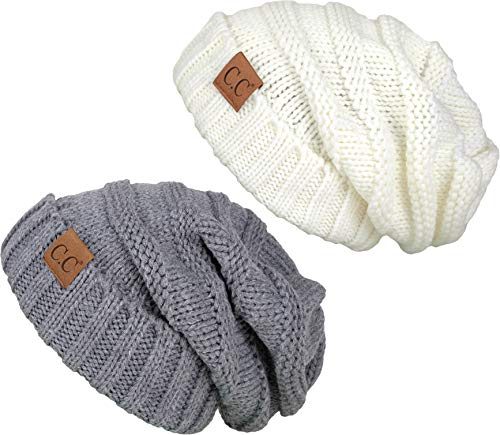 H-6100-2-2551 Oversized Bundle - 1 Solid Ivory, 1 Solid Heather Grey (2 PK) ()