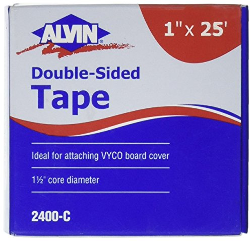 Alvin Double-Sided Tape 1 x 25 Feet (2400-C) ()