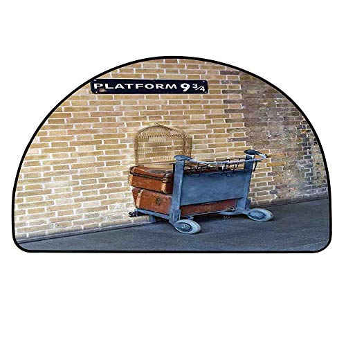 - YOLIYANA Wizard Doormat,Secret Way to The Train to Magical World Kings Cross Station Famous Landmark Picture Entryway Mat,37.4