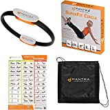 Pilates Ring - Magic Fitness Circle For Core Strength Includes Exercise Wall Poster & Carry Bag