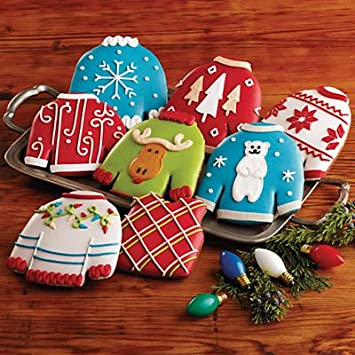 Amazon Com Ugly Christmas Sweater Cookies Gift Baskets Fr