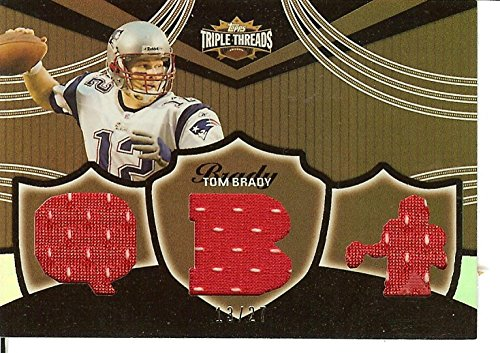 - Football NFL 2006 Triple Threads Relic Sepia #TTR22 Tom Brady MEM 13/27