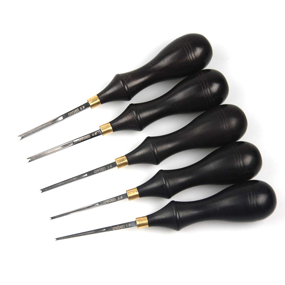 OWDEN Professional Edge beveles for Leather Craft (1#), Leather Tool. Weher Craft AL0004