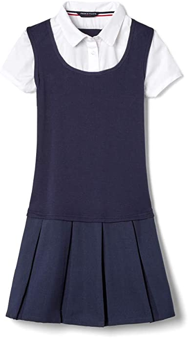 French Toast Girls Twofer Pleated Dress