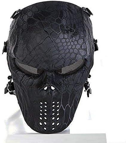 Máscara protectora integral CQJDG para actividades al aire libre como airsoft, pistolas de aire comprimido, juegos tipo paintball y fiestas, con diseño de calavera