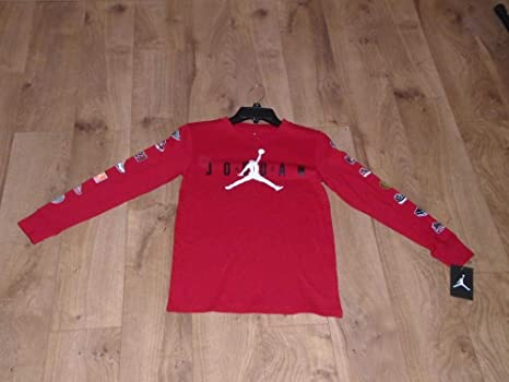 a635d4cf2ee NEW NIKE JORDAN JUMPMAN LONG SLEEVE LOGOS SHIRT SIZE BOYS MEDIUM at ...