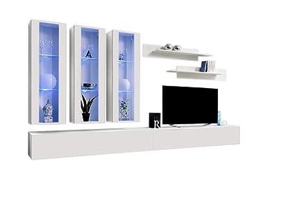 Idea E3 Contemporary Wall Unit/Entertainment Center/Contemporary Design  Furniture With LED Lights/