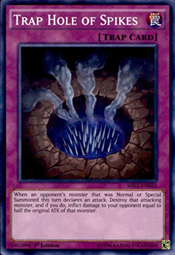 Yu-Gi-Oh! - Trap Hole of Spikes MIL1-EN022 Super Rare 1st Edition