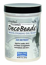 Deco Beads DB-O08 Orange 8-Ounce Jar