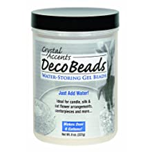 Deco Beads - 8 Ounce Jar Makes Over 6 Six Gallons - Beads Hold Water