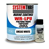 System Three 1800K16 Orcas White WR-LPU Urethane Paint Coating, 1 quart Can