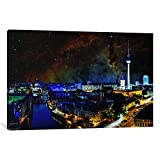 "iCanvasART 1 Piece Berlin, Germany Elephant's Trunk Nebula Skyline Canvas Print by Kane, 40"" x 26""/0.75"" Depth"