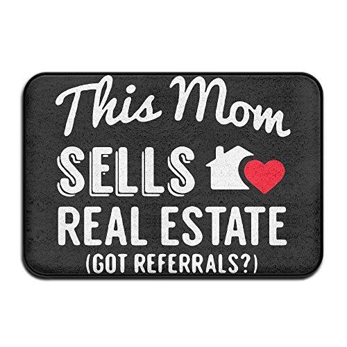 This Mom Sells Real Estate Realtor Non Slip Doormat Entrance Mat Floor Mat Rug Dirt Trapper Mats 15 7 X23 6
