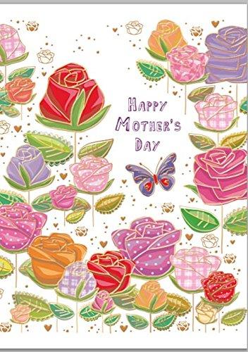 Tarjeta de día de la madre - flores y mariposas: Amazon.es ...