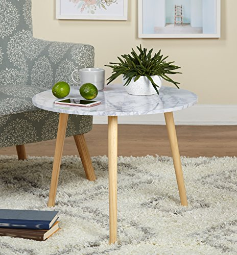 Target Marketing Systems Laminated Marble Darcy Table, Natural 51moEnOG5mL
