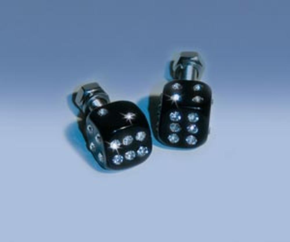 nero Set di 4 FOLIATEC FT34524 in alluminio Targa viti in cristallo