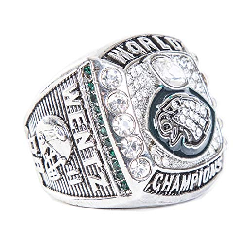 - Zoga Philadelphia Eagles Ring, Football Super Bowl LII World Foles and Wentz Championship Replica Ring (Wentz 11)