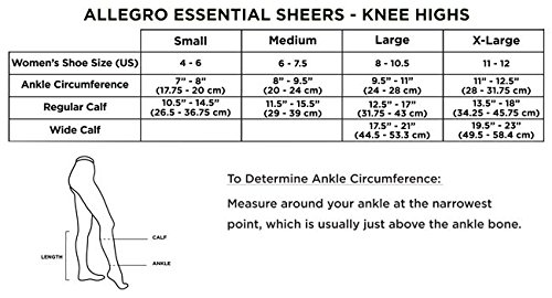 Allegro 20-30 mmHg Essential 18 Sheer Support Knee High Compression Sock by Allegro Compression Hosiery (Image #4)