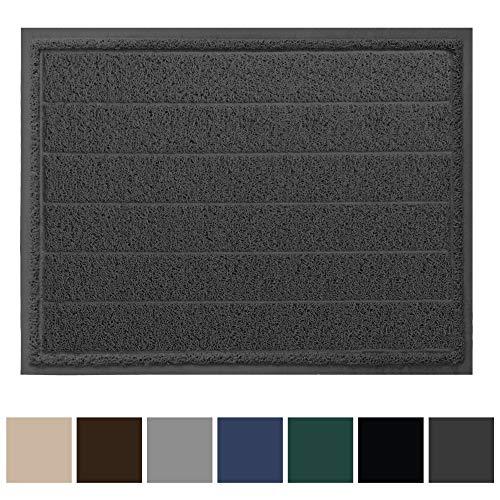 Gorilla Grip Original Durable Indoor Door Mat, 47x35, Large Size, Heavy Duty Doormats, Commercial Waterproof Stripe Doormat, Easy Clean, Low-Profile Mats for Entry, High Traffic Areas, Graphite