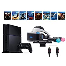 PlayStation VR Start Bundle 10 Items:VR Start Bundle PS,PS4 Call of Duty Black Ops III,6 VR Game Disc Until Dawn,Rush of Blood,EVE: Valkyrie, Battlezone,Batman:Arkham VR, DriveC(US Version, Imported)