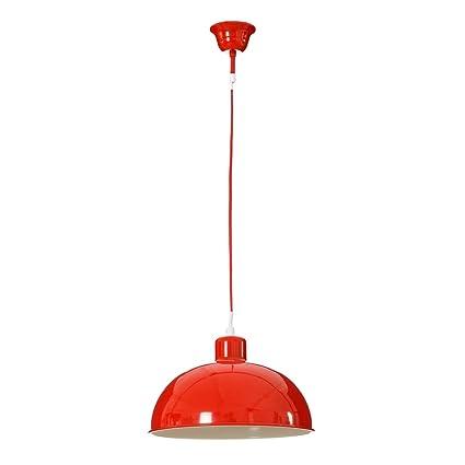 Lámpara de Techo Vintage roja de Metal para Cocina Fantasy ...