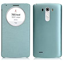 Sannysis 2015 Newest Quick Circle Case Cover With Qi Wireless Charging+NFC For LG G3 D855 D850 Blue