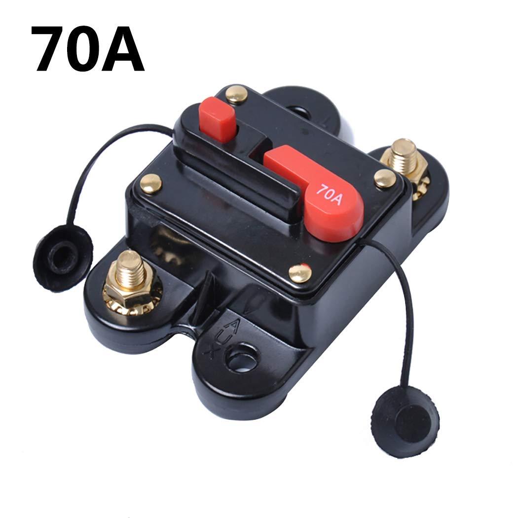 Fansport DC Disjoncteur 70A 120A 160A 180A 200A Porte-Fusible Disjoncteur Int/éGr/é pour Voiture