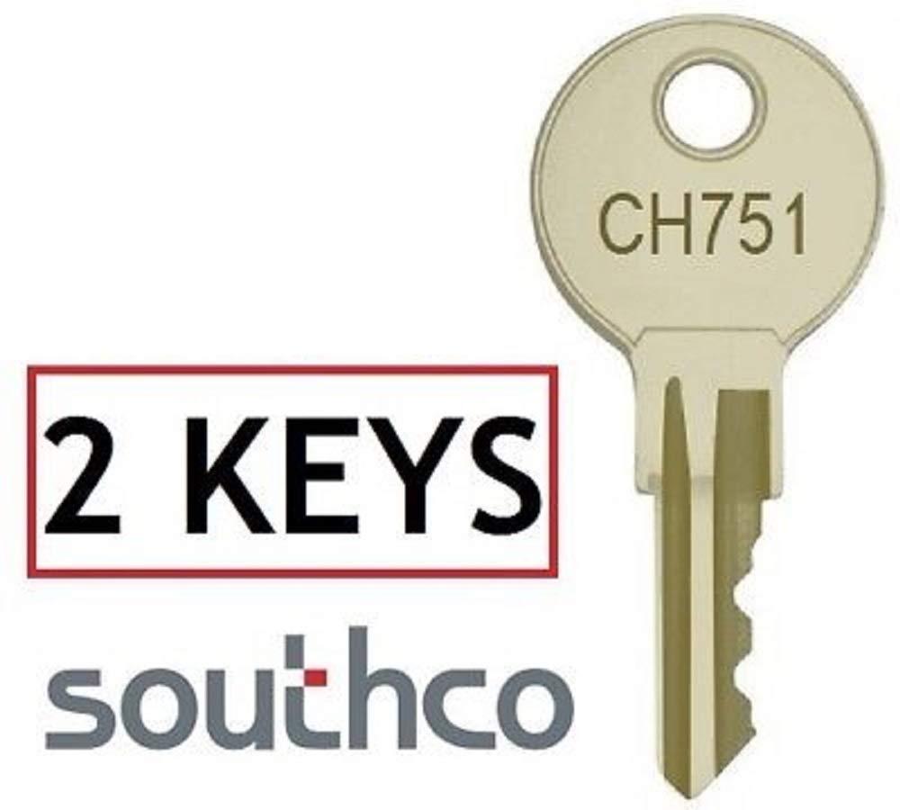 MSPowerstrange 2 Keys CH751 Southco Camper Trailer Storage Shower Compartment Door Cover Rv Baggage Lock Keys Tri-Mark by MSPowerstrange (Image #2)