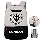 Gumstyle Mobile Suit Gundam Anime Travel Backpack with USB Charging Port Luggage Strap Laptop Bag for Men Women Students Black 5