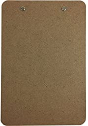 Trade Quest Memo Size 6\'\' x 9\'\' Clipboard Low Profile Clip Hardboard (Pack of 6)