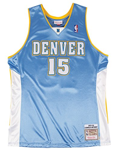 7d40899b2f7 Mitchell & Ness Carmelo Anthony Denver Nuggets Authentic 2003-04 Blue NBA  Jersey