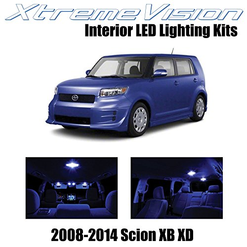 automotive, lights & lighting accessories, accent & off road lighting,  led & neon lights  discount, XtremeVision Interior LED for Scion XB XD 2008-2014 (12 Pieces) Blue Interior LED Kit + Installation Tool deals1