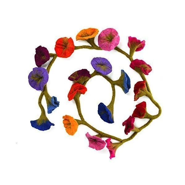 Paper High Felt Flower Garland Multi Coloured (Approx. 160 cm Long)