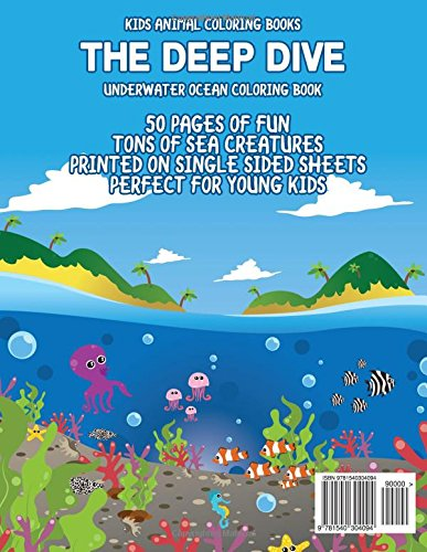 Kids Animal Coloring Books The Deep Dive Underwater Ocean Coloring