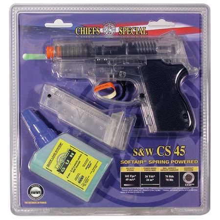 smith & wesson chiefs special spring pistol, clear(Airsoft Gun)