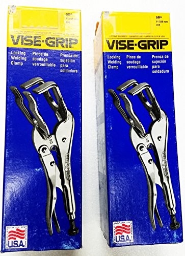 2-Pack Vise-Grip 9R 9 Inch Welding Clamp Locking Pliers, Made in USA by American Tool Inc