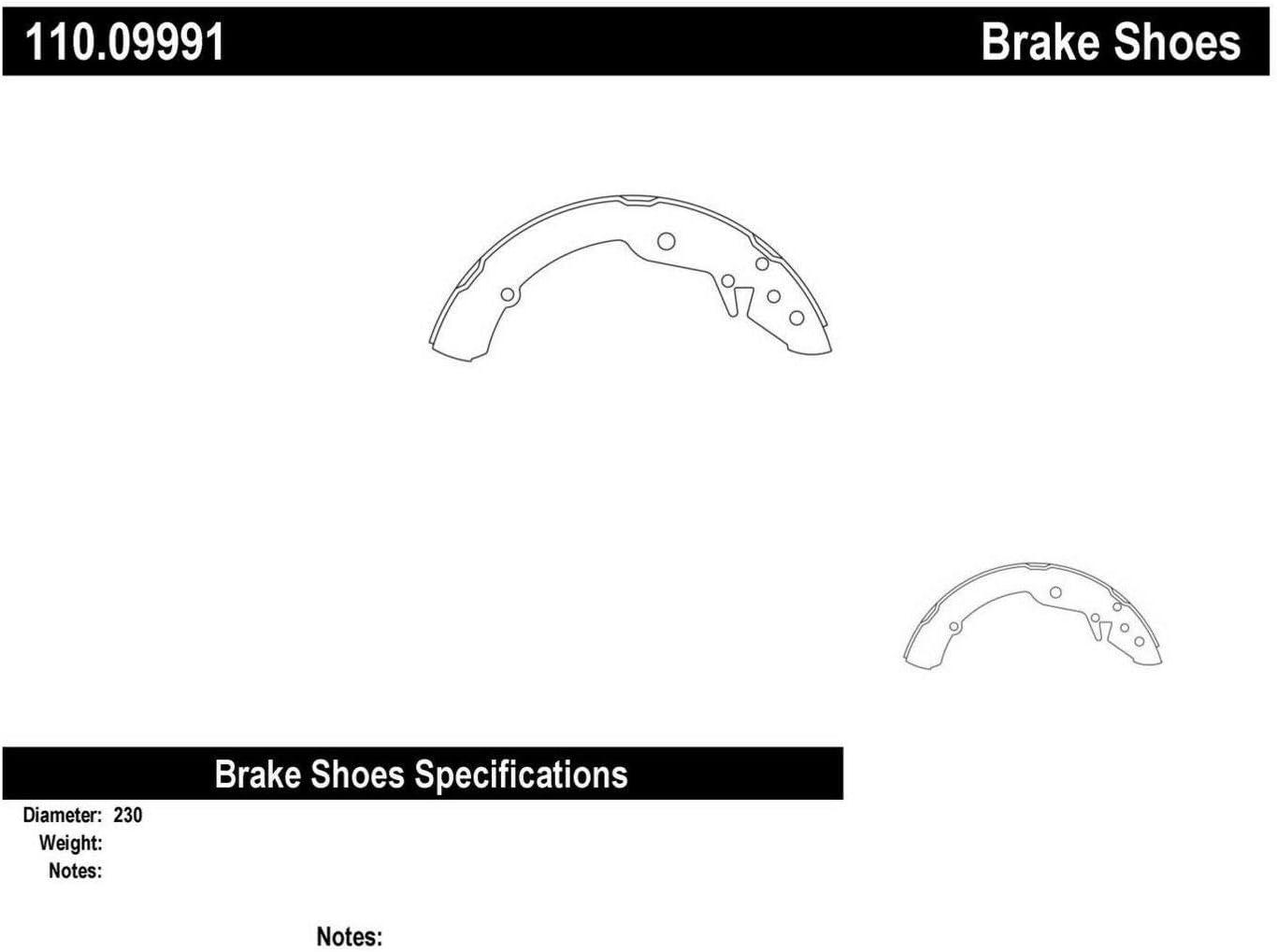Centric 110.09991 Brake Shoe