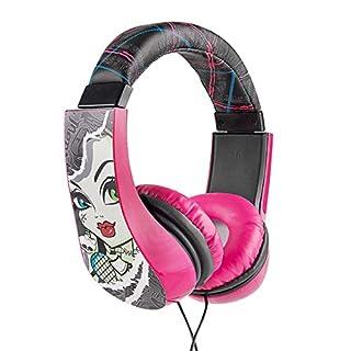 Monster High 30348 Kid Safe Over the Ear Headphone w/ Volume Limiter, Black and Pink by Sakar