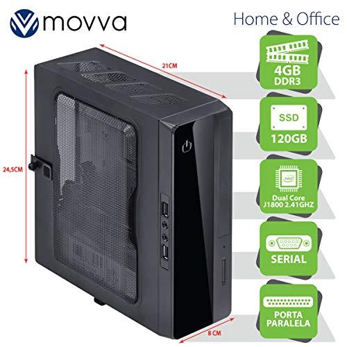 MINI COMPUTADOR LITE INTEL DC J1800 2.41GHZ MEM. 4GB SSD 120GB 1X PORTA PARALELA 1X PORTA SERIAL - FONTE 130W - LINUX - MOVVA