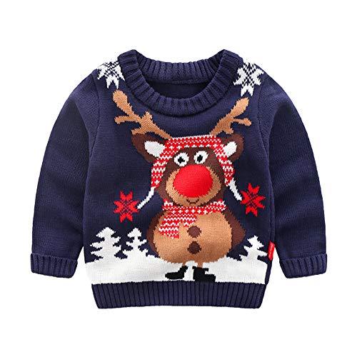 Vinnytido Baby Boys Girls Christmas Reindeer Pullover Knitted Sweater]()