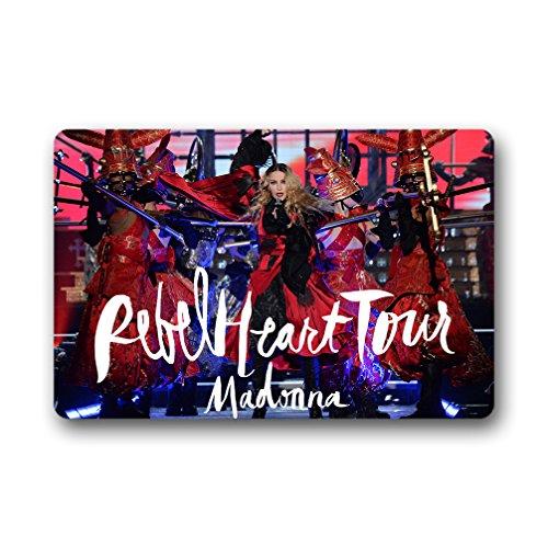 JIUDUIDODO Personalized Mats,Romero Wonderful DecorationsMadonna Rebel Heart Tour Non-slip Doormat 23.6