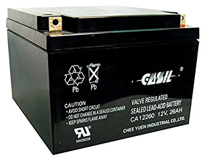 Casil CA12260 12v 26ah SEALED 12 VOLT DEEP - CYCLE RECHARGEABLE BATTERY