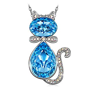 Susan Y Jewelry Gifts for Her, Necklaces for Girls, Cat Baron Pendant Necklace with Crystals from Swarovski, Jewelry…