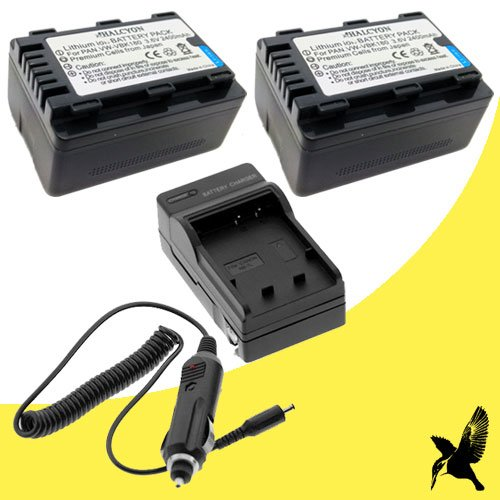 Two Halcyon 2400 mAH Lithium Ion Replacement Battery and Cha