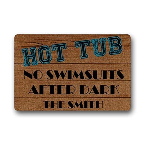 Tiger Woven Boxer - Personized Doormat Hot Tub No Swimsuits After Dark Welcome Mat Living Room Bathroom Door Mat Inside Home Rug Decor 23.6x15.7inch