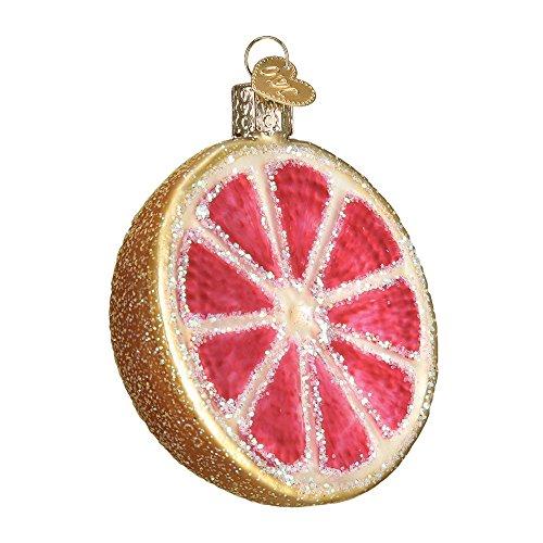 Fruit Christmas Ornament - Old World Christmas Grapefruit Glass Blown Ornament