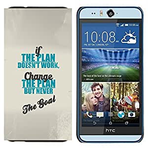 TECHCASE---Cubierta de la caja de protección para la piel dura ** HTC Desire Eye ( M910x ) ** --cambio de trabajo gol plan de azul inspirando