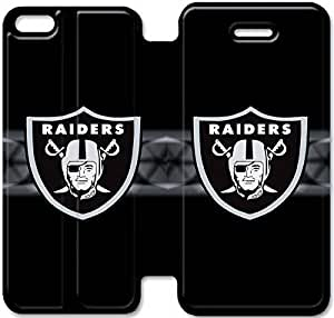 iPhone 6 6S Plus 5.5 Inch funda,NSDFIUOSR8215 Flip cubierta y soporte para iPhone 6 6S Plus 5.5 pulgadas - RAIDERS NFL Oakland logotipo grande