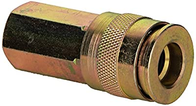 BOSTITCH UC38-14F Universal 3/8-Inch Series Coupler with Push-To-Connect with 1/4-Inch NPT Female Thread