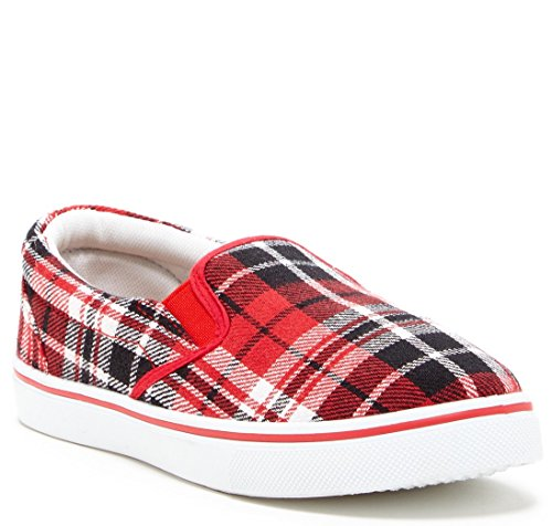 Carrini CA Collection Plaid Sneaker (8, Black (Plaid Shoes)